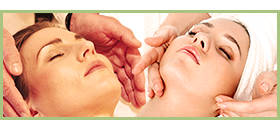 photo of reiki and facial treatments