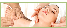 photo of reflexology and facial treatments